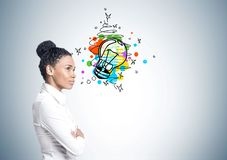 African American businesswoman, idea Stock Photography