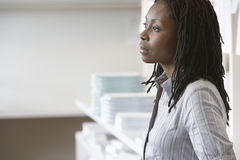 African American Businesswoman Looking Away royalty free stock photo