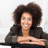 African American businesswoman with a lovely smile Royalty Free Stock Photography
