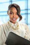 African American Businesswoman Smiling Stock Photo