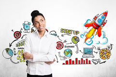 African American businesswoman start up Stock Images
