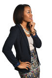 African American Businesswoman Thinking Royalty Free Stock Photo