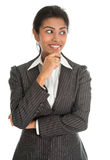 African American businesswoman thinking Royalty Free Stock Photography