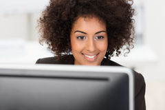 African American businesswoman at work Stock Image