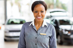 African american car saleswoman Royalty Free Stock Photos