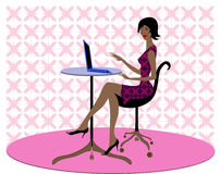 African American career woman royalty free stock photo