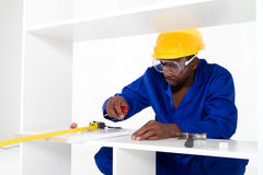 African american carpenter Royalty Free Stock Image
