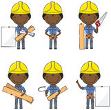 African-American carpenter Stock Image