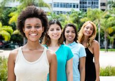 African and american and caucasian and hispanic young adults in Stock Photography