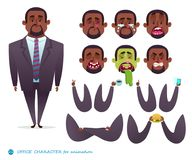 African American character for scenes. Royalty Free Stock Images