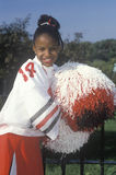 An African-American cheerleader Royalty Free Stock Photo