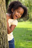 African American Child. Happy African American child playing in a park Stock Images