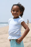 African American  Child. Happy African American child on a beach Royalty Free Stock Photos