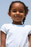 African American  Child. Happy African American child on a beach Stock Image