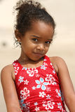 African American  Child. Happy African American child on a beach Royalty Free Stock Image