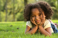 African American Child. Happy African American  Child in a park Stock Images