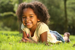African American Child. Happy African American  Child in a park Stock Photography