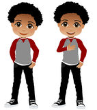 African American Child. Child illustration, little child Black child Young boy school child fun illustration of child children, kid, youth Royalty Free Stock Photo