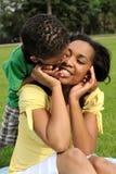 african american child mother Стоковые Фотографии RF