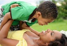 african american child mother Стоковое Изображение