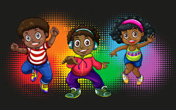 African american children dancing Royalty Free Stock Images
