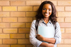 African american college girl Stock Image