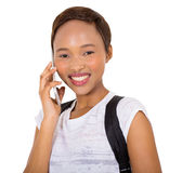 African american college girl Stock Photography
