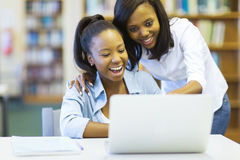 African american college girls Royalty Free Stock Image