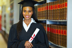 African american college graduate Royalty Free Stock Photography