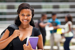 African american college student Stock Photos