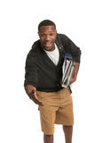 African American College Student Expression Royalty Free Stock Image
