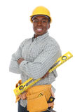 African American Construction Man Stock Photo