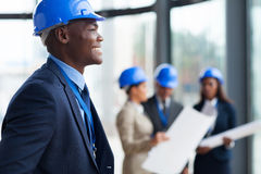 African american construction Royalty Free Stock Photo