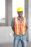 African American construction worker Royalty Free Stock Photo