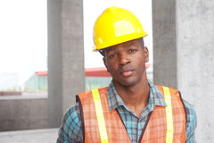 African American construction worker Stock Photos