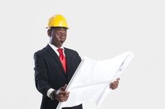 African american construction worker Royalty Free Stock Photography