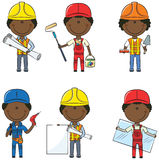 African-American Construction Workers Royalty Free Stock Photos