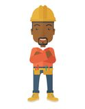 African-american Constructions worker Royalty Free Stock Image