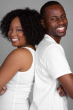 African American Couple. Happy black african american couple Royalty Free Stock Photo