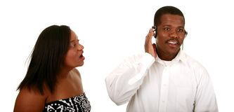 African American Couple Can't Royalty Free Stock Image