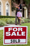 African American Couple Celebrate House Purchase Royalty Free Stock Images