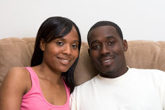 African american couple Close Up Royalty Free Stock Images