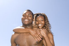 African American Couple Embracing Stock Images