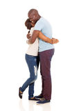 African american couple hugging Royalty Free Stock Photos