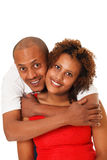 African American Couple Isolated On White Royalty Free Stock Image
