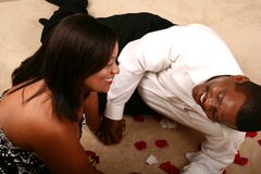 African American Couple Laughing Stock Images