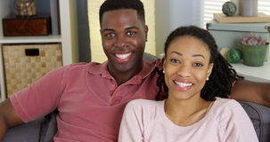 African American couple looking at camera Stock Photos