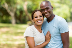 African american couple outdoors Royalty Free Stock Photography