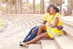 African american couple park Stock Photography