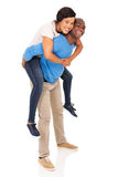 African american couple piggyback Royalty Free Stock Images